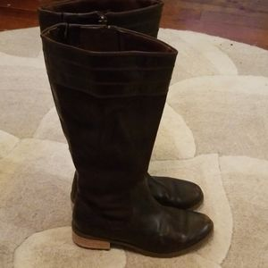 Timberland chocolate brown suede Moto boots